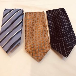 Lot of 3 100% Silk Ties